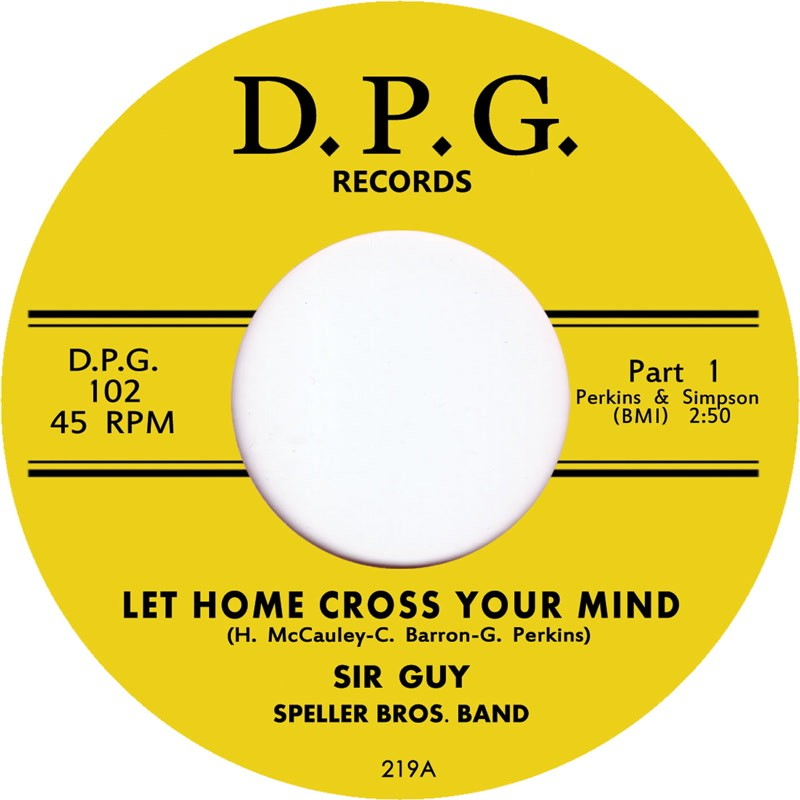 """SIR GUY - Let Home Cross Your Mind (7"""")"""
