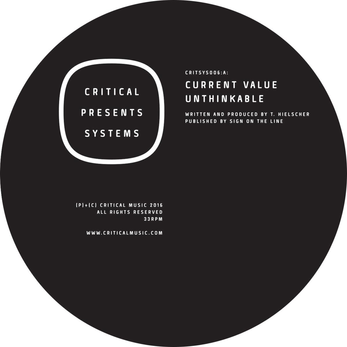 CURRENT VALUE - Critical Presents Systems 006 EP